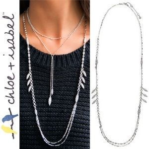 🆕 Lumière Long Layered Necklace c+i N482SCL